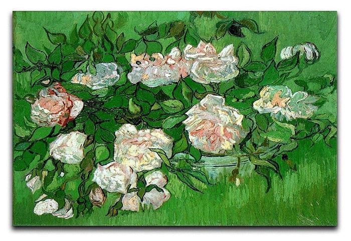 Still Life Pink Roses by Van Gogh Canvas Print or Poster