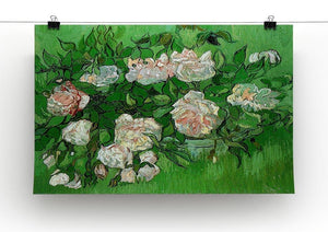 Still Life Pink Roses by Van Gogh Canvas Print & Poster - Canvas Art Rocks - 2