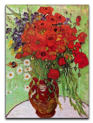 Still Life Red Poppies and Daisies by Van Gogh Canvas Print & Poster  - Canvas Art Rocks - 1