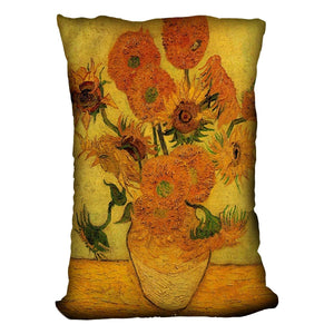 Still Life Vase with Fifteen Sunflowers 2 by Van Gogh Throw Pillow