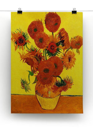 Still Life Vase with Fifteen Sunflowers 3 by Van Gogh Canvas Print & Poster - Canvas Art Rocks - 2