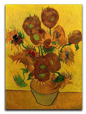 Still Life Vase with Fifteen Sunflowers by Van Gogh Canvas Print & Poster  - Canvas Art Rocks - 1