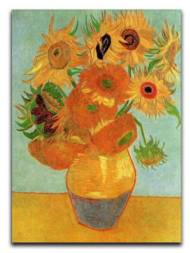 Still Life Vase with Twelve Sunflowers by Van Gogh Canvas Print & Poster  - Canvas Art Rocks - 1