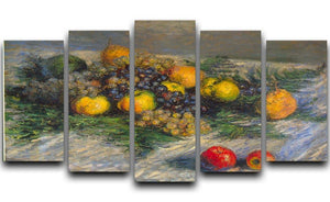 Still Life by Monet 5 Split Panel Canvas  - Canvas Art Rocks - 1