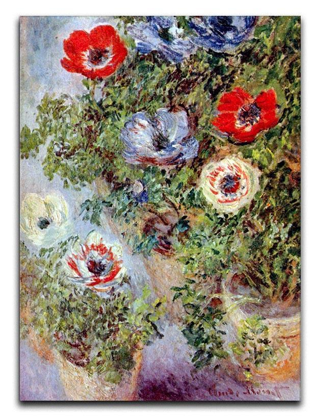 Still Life with Anemones by Monet Canvas Print or Poster