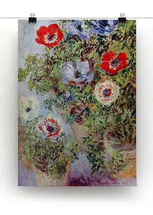 Still Life with Anemones by Monet Canvas Print & Poster - Canvas Art Rocks - 2