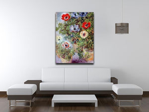 Still Life with Anemones by Monet Canvas Print & Poster - Canvas Art Rocks - 4