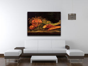 Still Life with Apples Meat and a Roll by Van Gogh Canvas Print & Poster - Canvas Art Rocks - 4