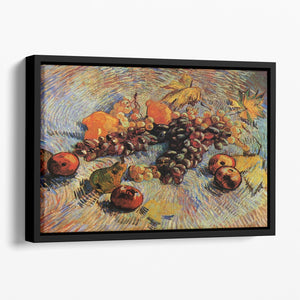 Still Life with Apples Pears Lemons and Grapes by Van Gogh Floating Framed Canvas