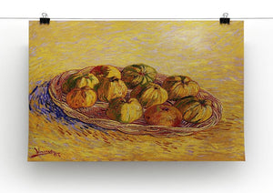 Still Life with Basket of Apples by Van Gogh Canvas Print & Poster - Canvas Art Rocks - 2