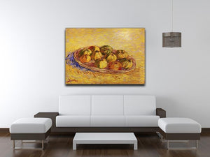 Still Life with Basket of Apples by Van Gogh Canvas Print & Poster - Canvas Art Rocks - 4