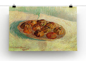 Still Life with Basket of Apples to Lucien Pissarro by Van Gogh Canvas Print & Poster - Canvas Art Rocks - 2