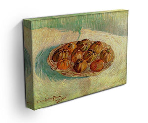 Still Life with Basket of Apples to Lucien Pissarro by Van Gogh Canvas Print & Poster - Canvas Art Rocks - 3