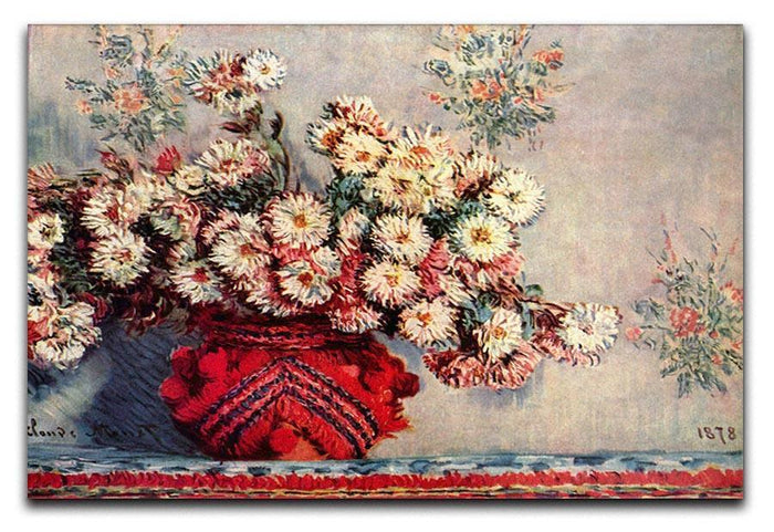 Still Life with Chrysanthemums by Monet Canvas Print or Poster