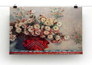 Still Life with Chrysanthemums by Monet Canvas Print & Poster - Canvas Art Rocks - 2