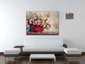 Still Life with Chrysanthemums by Monet Canvas Print & Poster - Canvas Art Rocks - 4