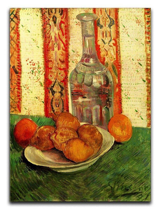 Still Life with Decanter and Lemons on a Plate by Van Gogh Canvas Print or Poster