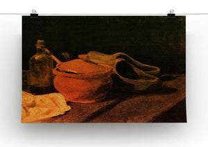 Still Life with Earthenware Bottle and Clogs by Van Gogh Canvas Print & Poster - Canvas Art Rocks - 2