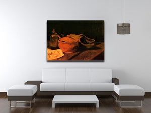 Still Life with Earthenware Bottle and Clogs by Van Gogh Canvas Print & Poster - Canvas Art Rocks - 4