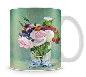 Still Life with Flowers 2 by Manet Mug - Canvas Art Rocks - 1