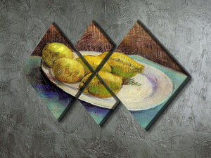 Still Life with Lemons on a Plate by Van Gogh 4 Square Multi Panel Canvas - Canvas Art Rocks - 2