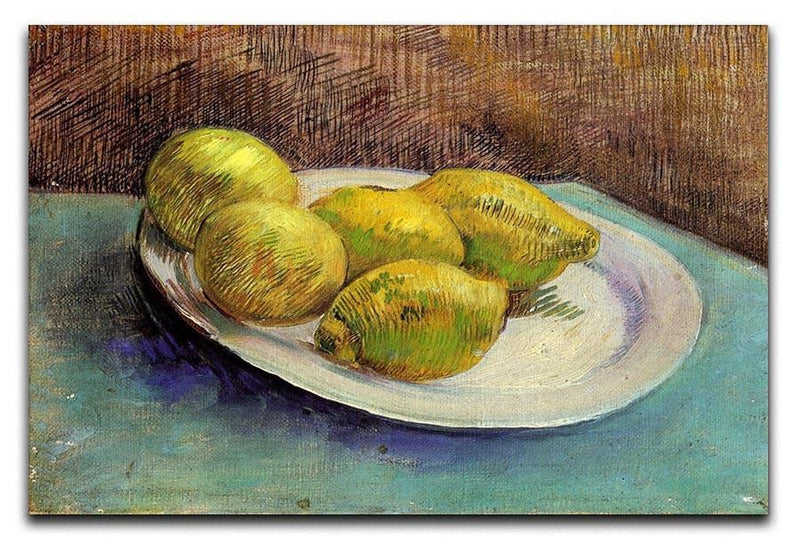 Still Life with Lemons on a Plate by Van Gogh Canvas Print & Poster  - Canvas Art Rocks - 1