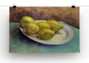 Still Life with Lemons on a Plate by Van Gogh Canvas Print & Poster - Canvas Art Rocks - 2