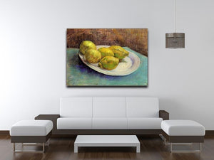 Still Life with Lemons on a Plate by Van Gogh Canvas Print & Poster - Canvas Art Rocks - 4