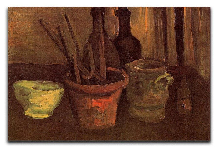 Still Life with Paintbrushes in a Pot by Van Gogh Canvas Print or Poster