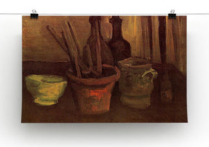 Still Life with Paintbrushes in a Pot by Van Gogh Canvas Print & Poster - Canvas Art Rocks - 2