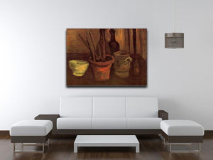 Still Life with Paintbrushes in a Pot by Van Gogh Canvas Print & Poster - Canvas Art Rocks - 4