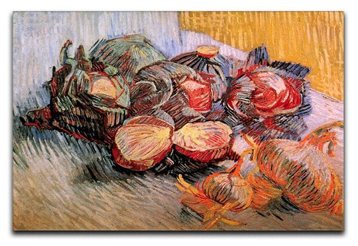 Still Life with Red Cabbages and Onions by Van Gogh Canvas Print or Poster