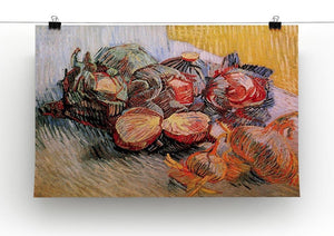 Still Life with Red Cabbages and Onions by Van Gogh Canvas Print & Poster - Canvas Art Rocks - 2