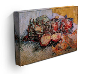Still Life with Red Cabbages and Onions by Van Gogh Canvas Print & Poster - Canvas Art Rocks - 3