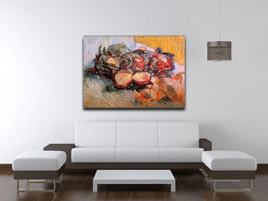 Still Life with Red Cabbages and Onions by Van Gogh Canvas Print & Poster - Canvas Art Rocks - 4