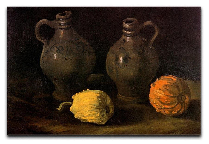 Still Life with Two Jars and Two Pumpkins by Van Gogh Canvas Print or Poster