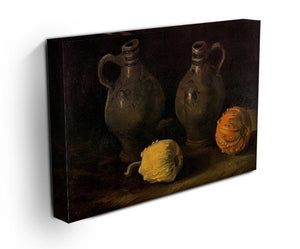 Still Life with Two Jars and Two Pumpkins by Van Gogh Canvas Print & Poster - Canvas Art Rocks - 3