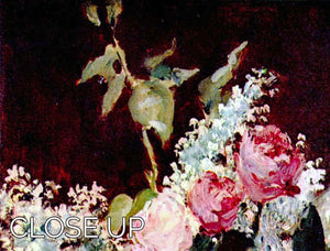 Still life lilac and roses by Manet 3 Split Panel Canvas Print - Canvas Art Rocks - 3