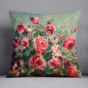 Still life roses of Vargemont by Renoir Throw Pillow