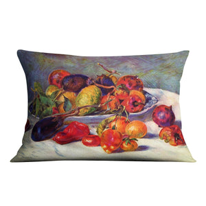 Still life with tropical fruits by Renoir Throw Pillow