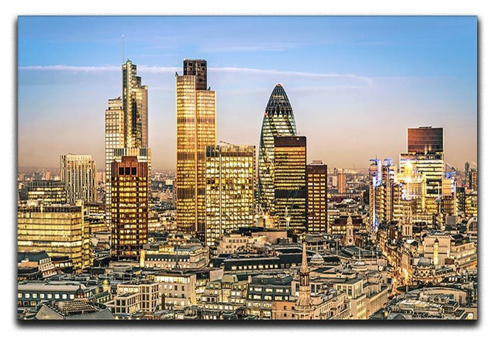 Stock Exchange Tower and Lloyds of London Canvas Print or Poster