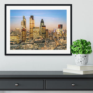 Stock Exchange Tower and Lloyds of London Framed Print - Canvas Art Rocks - 1