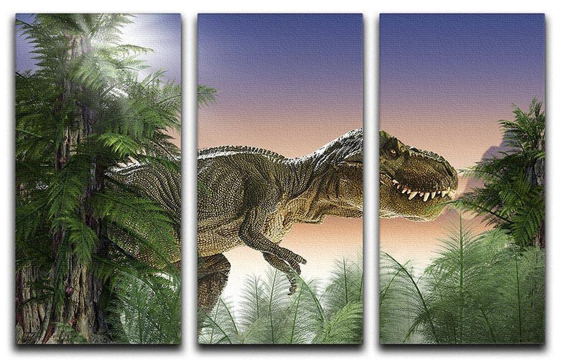 Stock Photo dinosaur 3 Split Panel Canvas Print - Canvas Art Rocks - 1
