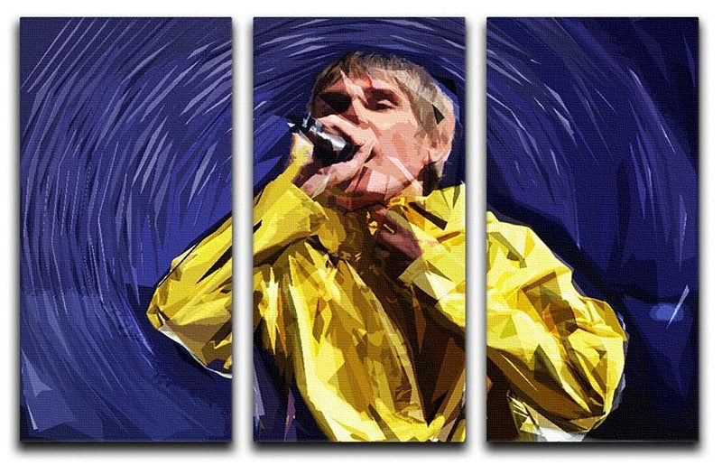 Stone Roses Pop Art 3 Split Panel Canvas Print - Canvas Art Rocks - 1