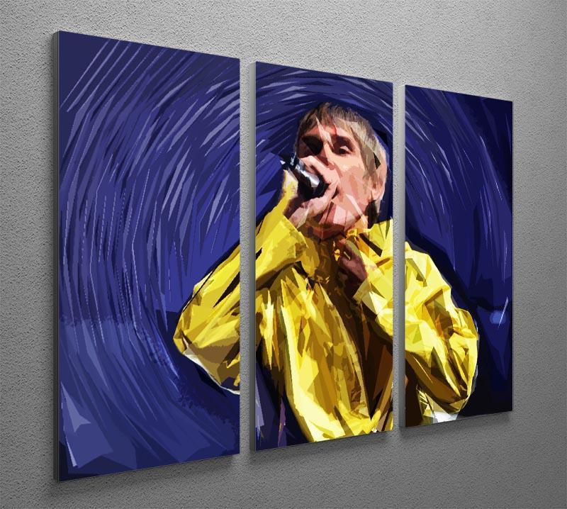 Stone Roses Pop Art 3 Split Panel Canvas Print - Canvas Art Rocks - 2