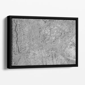 Stone concrete floor Floating Framed Canvas