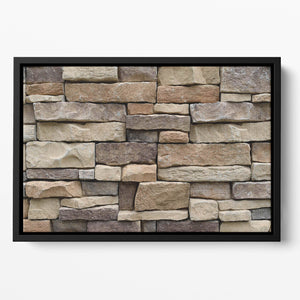 Stone wall texture Floating Framed Canvas