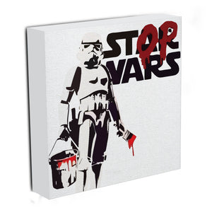 Banksy Stop Wars Star Wars Canvas Print & Poster - US Canvas Art Rocks