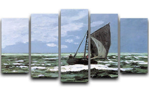 Storm by Monet 5 Split Panel Canvas  - Canvas Art Rocks - 1
