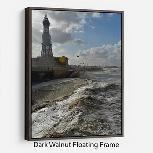 Stormy Blackpool Floating Frame Canvas - Canvas Art Rocks - 5